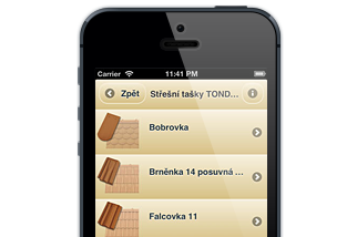Mobilní aplikace Tondach