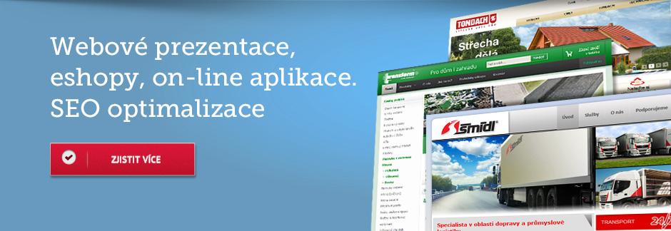 Webové prezentace, eshopy, on-line aplikace. SEO optimalizace